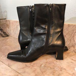 Etienne Aigner Black Square Toe Boot